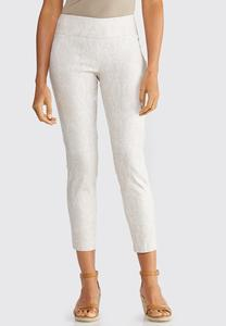 Snakeskin Slim Ankle Pants