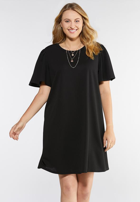Plus Size Puff Sleeve Swing Dress A- Line & Amp ; Swing Cato Fashions