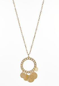 Shaky Coin Pendant Necklace