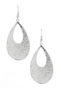 Zebra Tear Shaped Earrings
