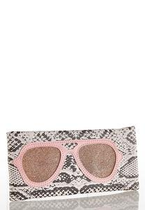 Snakeskin Glitter Sunglasses Case