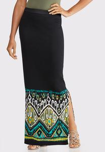 7bf165b600a4 Plus Size Ikat Maxi Skirt