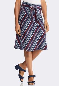 Americana Tie Waist Skirt