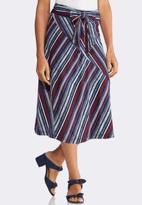 Plus Size Americana Tie Waist Skirt