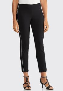 Slim Ankle Piped Pants