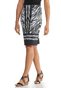 Zebra Print Scuba Skirt