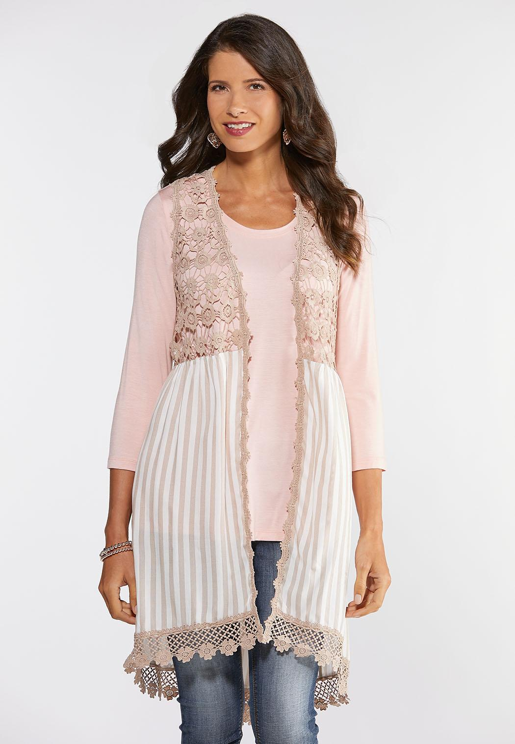 Striped Crochet Vest