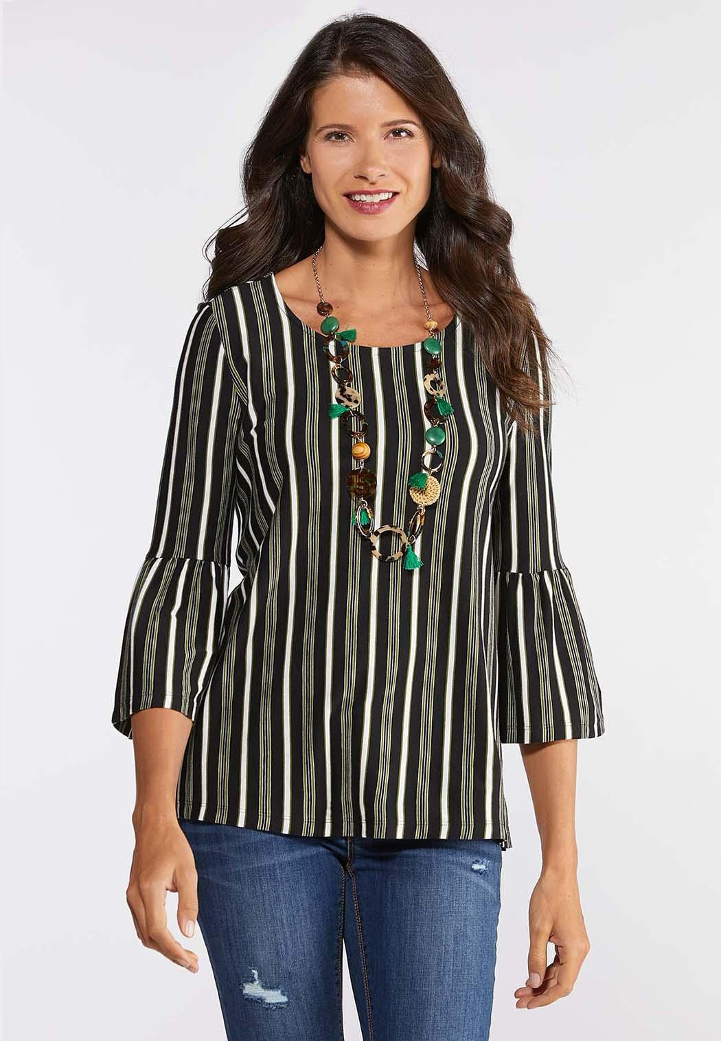 Striped Bell Top