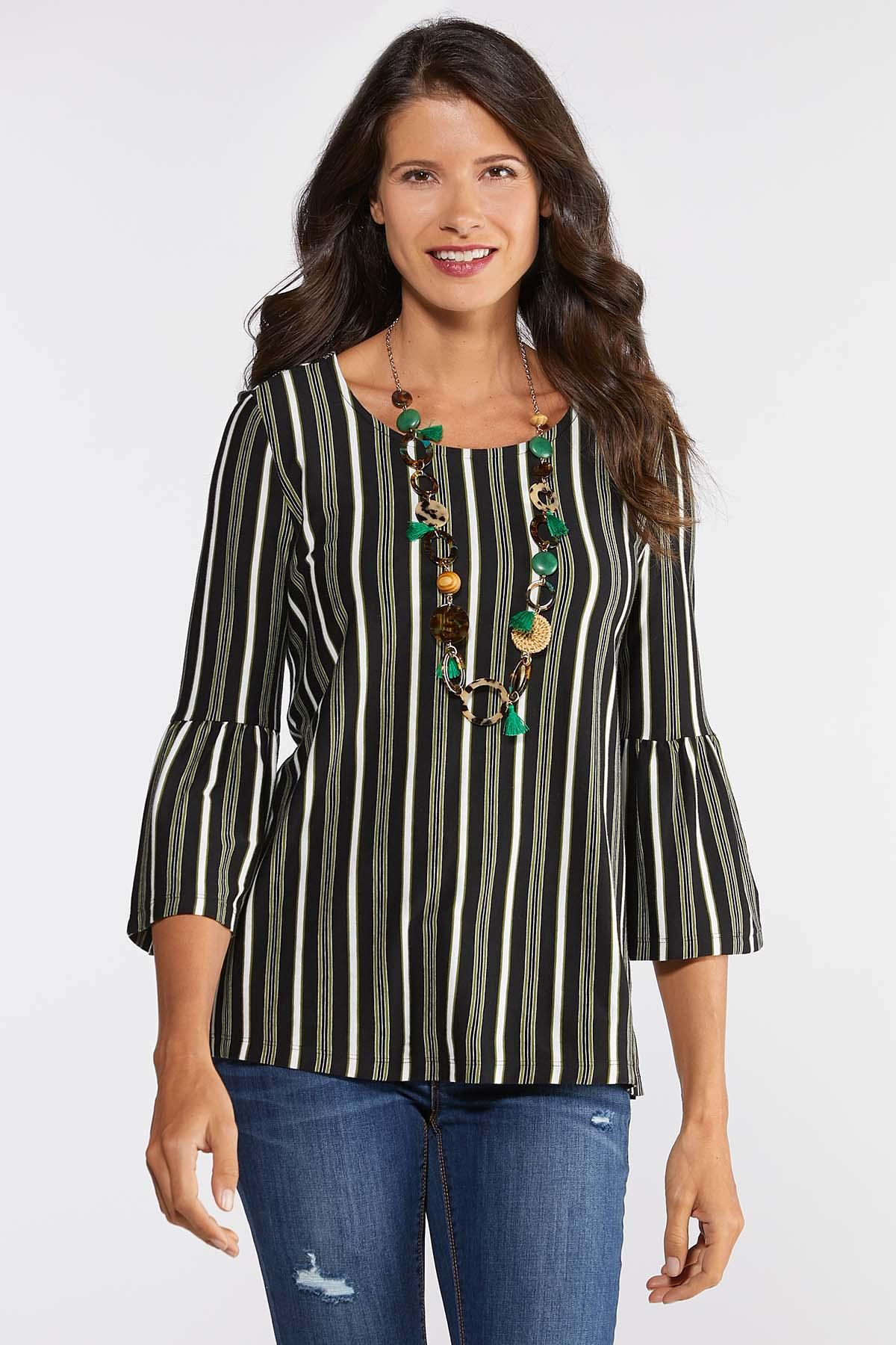 04402702c8b Striped Bell Top