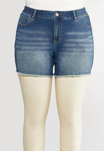 Plus Size High-Low Shorts