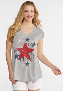 7283b85d7 Plus Size Living The Dream Graphic Tee