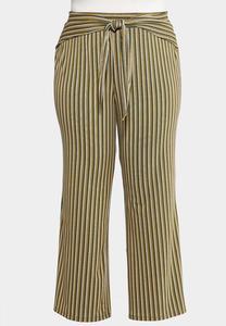 Plus Size Wrap Front Wide Leg Pants