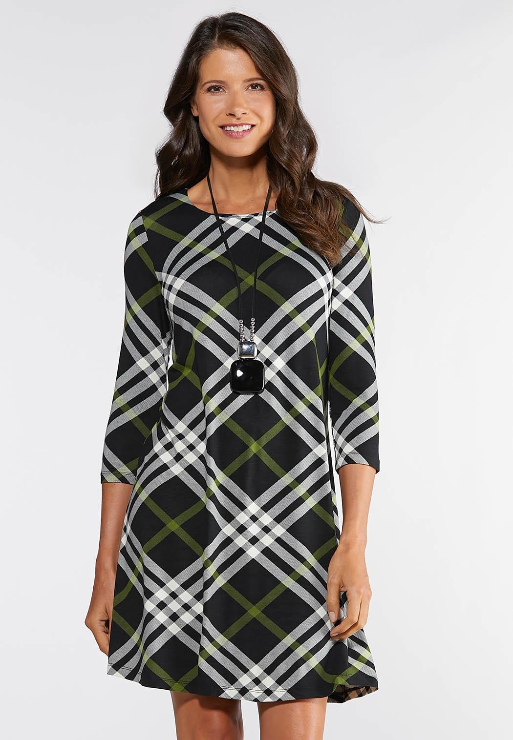 Plus Size Plaid Swing Dress Plus Sizes Cato Fashions