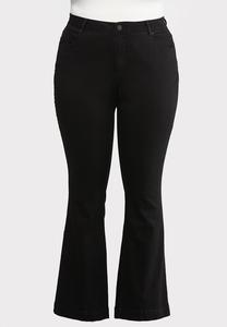 Plus Size Black Bootcut Jeans