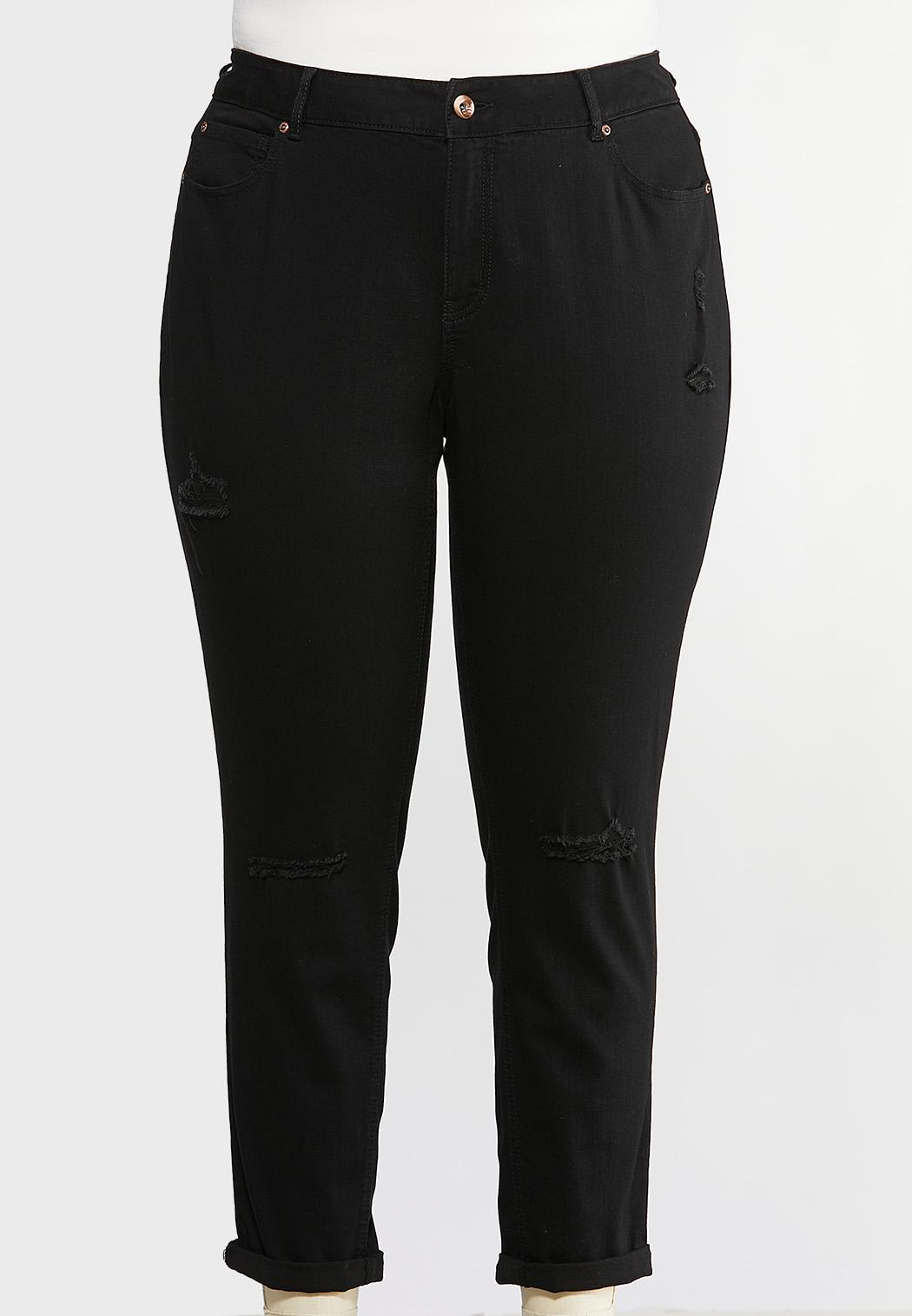 Plus Size Black Skinny Ankle Jeans