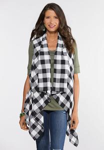 Plus Size Buffalo Plaid Vest
