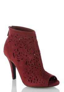 Peeptoe Laser Cut Shooties