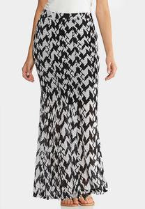 Bold Houndstooth Skirt