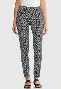 Petite Diamond Print Knit Pants