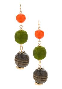 Linear Multi Ball Earrings
