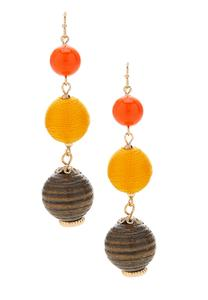 Linear Multi Ball Earrings