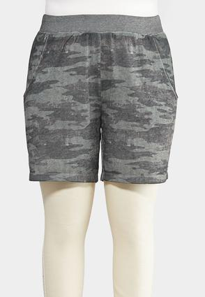 Plus Size Camo Shorts