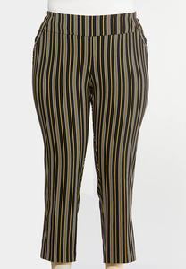 Plus Size Gold Stripe Pants