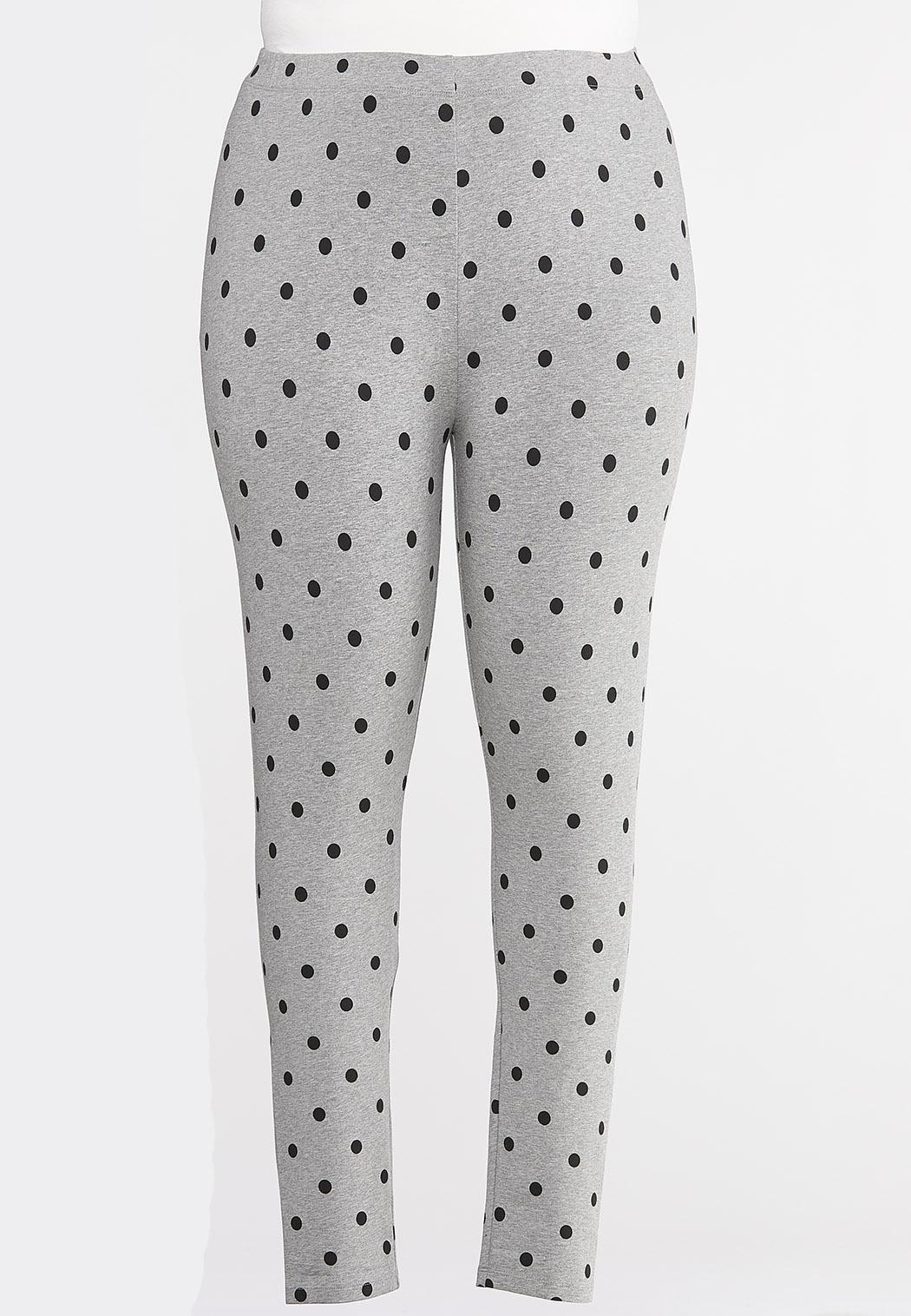 Plus Size Heathered Dot Leggings