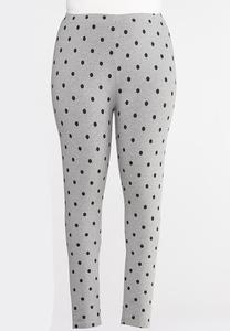 Plus Size Heathered Dot Leggings