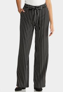 Petite Belted Wide Leg Pants
