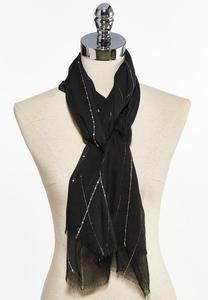 Sequin Thread Oblong Scarf