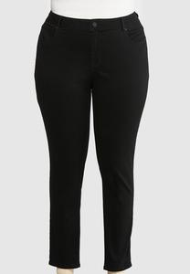 Plus Size Black Skinny Leg Jeans
