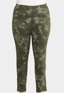 Plus Size Camo Active Leggings