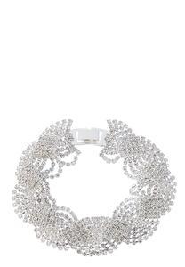 Rhinestone Braided Bracelet