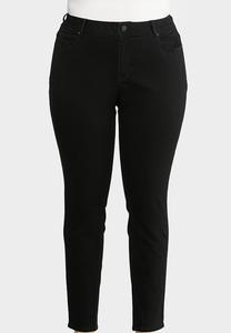 Plus Size Washed Black Jeggings