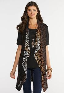 Woven Animal Print Vest