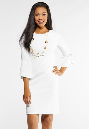 Plus Size Tulip Sleeve Dress