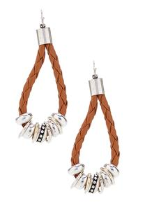Braided Faux Leather Earrings