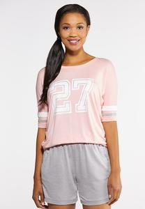 Plus Size Sporty Graphic Tee