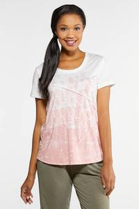 Plus Size Seamed Tie Dye Tee