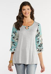 Plus Size Blossom Sleeve Top