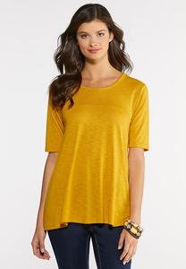 Plus Size Elbow Sleeve Swing Tee