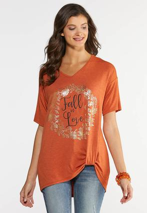Plus Size Fall In Love Tee
