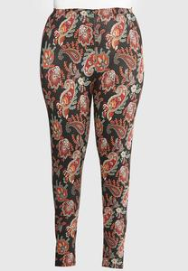 Plus Size Paisley Clay Leggings
