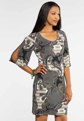 Plus Size Hardware Paisley Dress