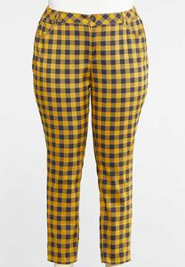 Plus Size Curvy Honey Plaid Pants