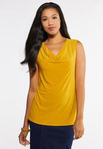 Plus Size Draped Front Tank