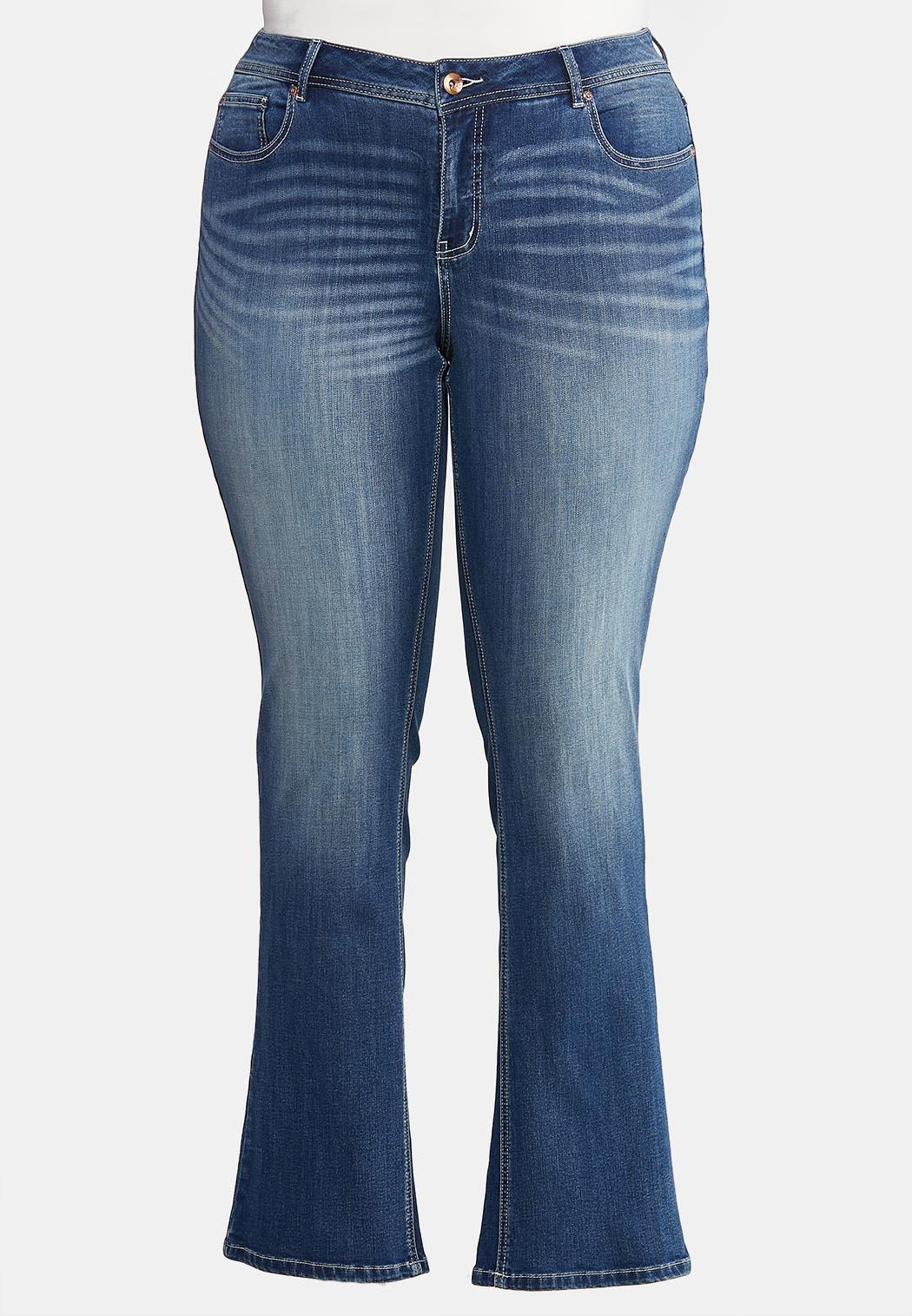 Plus Petite Dark Wash Bootcut Jeans