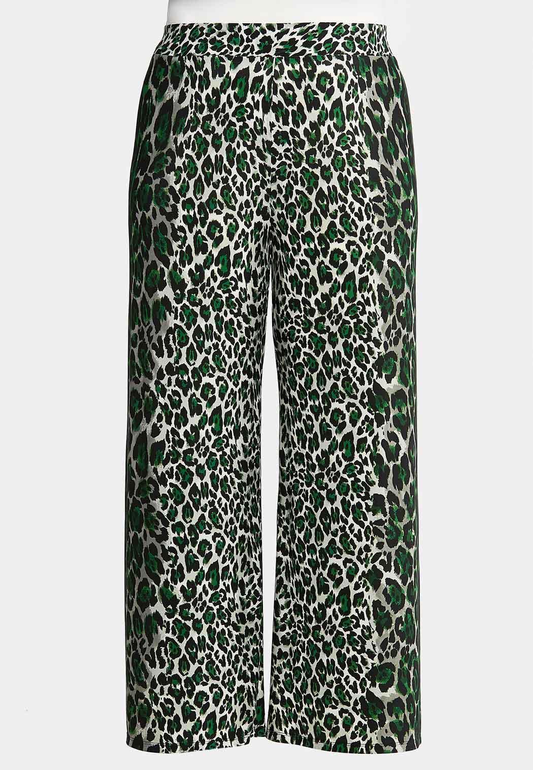 Plus Petite Leopard Palazzo Pants