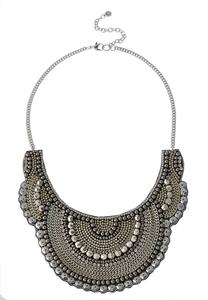 Statement Beaded Bib Necklace